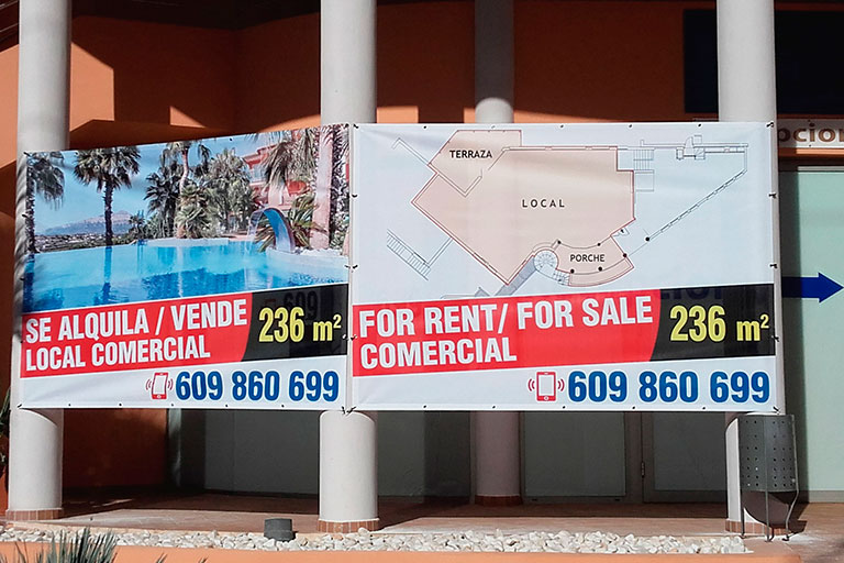 lonas publicitarias para inmobiliarias