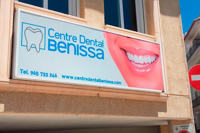 rótulo clínica dental