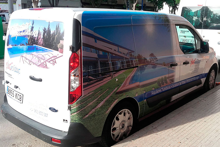 rotulación de furgoneta con impresión digital