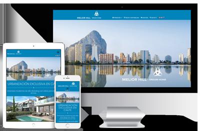 Web promoción inmobiliaria